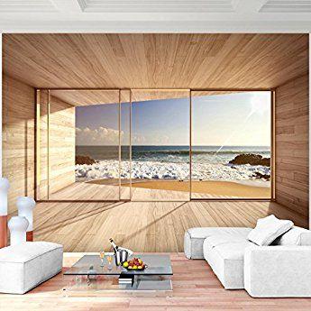 Fototapete Fenster zum Meer 352 x 250 cm Vlies Wand Tapete