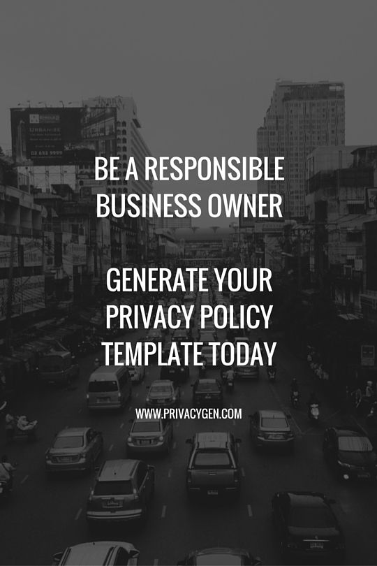 This Privacy policy generator tool allows you to create a free - privacy policy sample template
