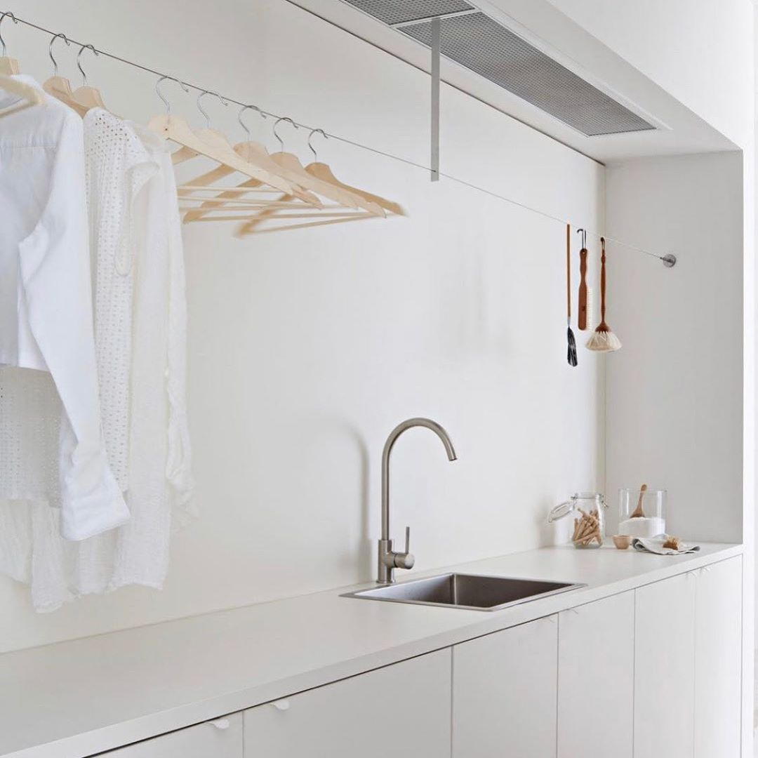 "Devin | portland organizer's Instagram post: ""laundry inspo ✨ @studiofour.net.au @organized_home @shannonmcgrath7 . . . . .  #themodernminimalist #homedecorinspo #homedecorlove…"""