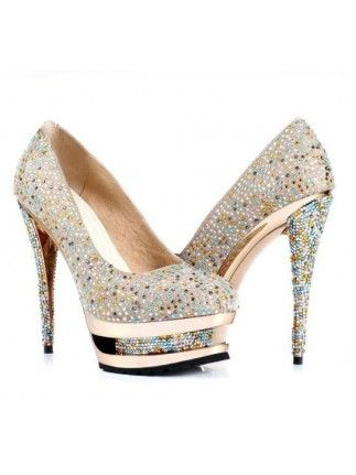 79060aee3a5a Real Leather and Colored Rhinestone Women s Prom Shoes