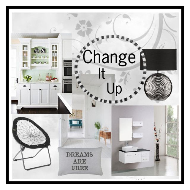 """Change it up- logo contest"" by chimechn ❤ liked on Polyvore featuring interior, interiors, interior design, home, home decor, interior decorating, St. John, Kokols and Park B. Smith"
