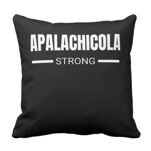Apalachicola Strong Hurricane Michael Florida Throw Pillow  					 			  		 			 $33.25  			 by  PositiveAtmosphere
