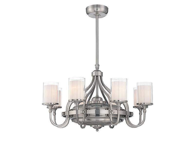 Savoy house 36 329 fd etesian 8 light air ionizing fandelier satin nickel fans · chandelier ceiling fanschandeliersfloor fanscontemporary
