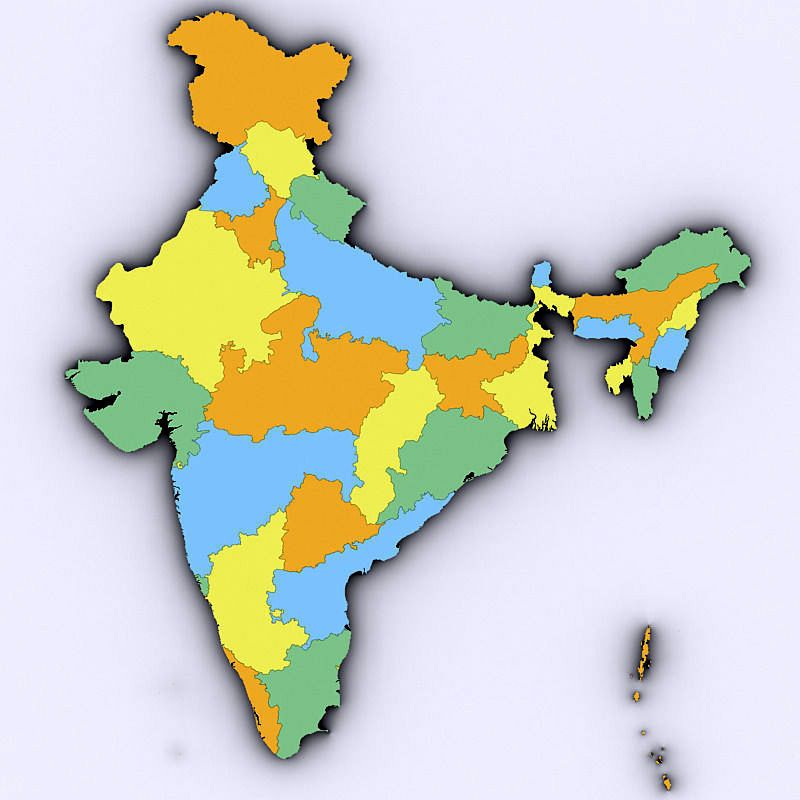 3D Map Of India map of india 3d | Map of India With States in 2019 | India map