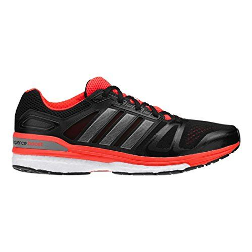 f9e6cf912eed Adidas Supernova Sequence Boost 7 Mens Running Shoe 12 Black-Carbon  Met-Solar Red