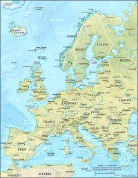 Europe Map Europa Frankreich Karte Frankreich Kuste