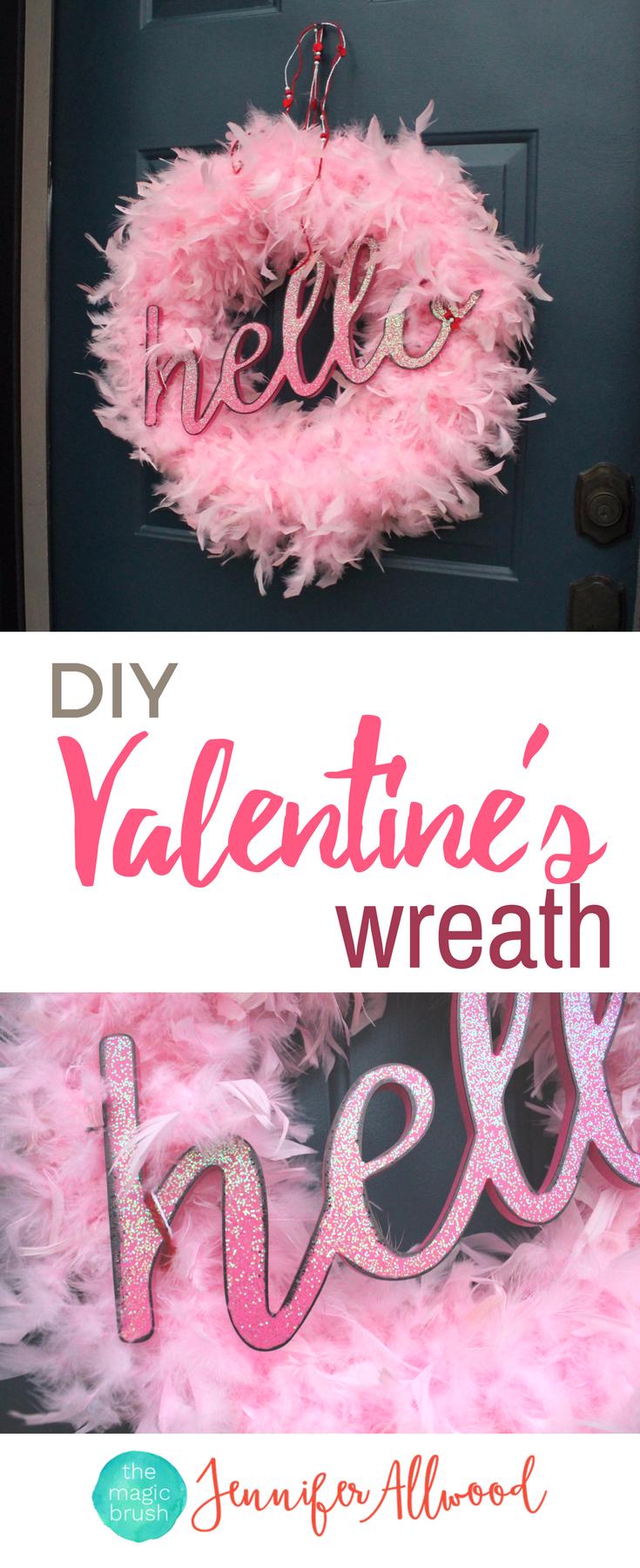 Diy valentine wreath to add glamor to your front door valentine diy valentine wreath to add glamor to your front door rubansaba
