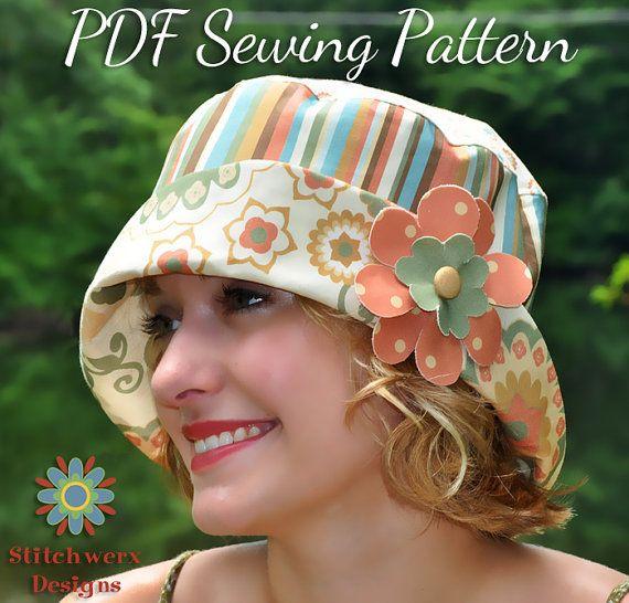 Bucket Hat PDF Sewing Pattern in 4 sizes fits teens to adults b4339edb89