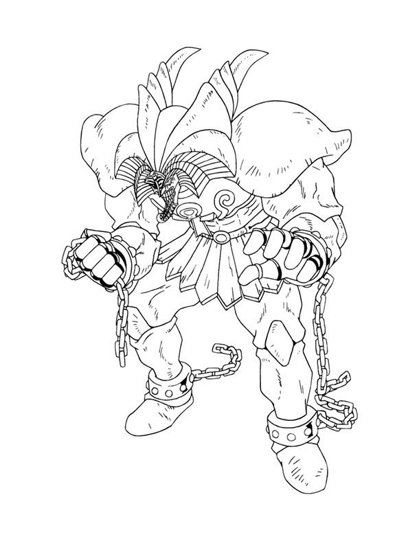 Exodia The Forbidden One Yu Gi Oh Coloring Pages Dibujos