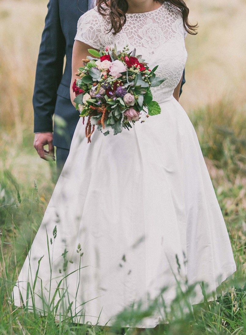 Silver Sixpence Custom Design Used Wedding Dress | Still White Australia
