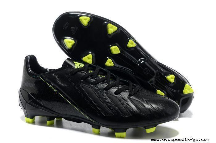 online store da2b2 2b1ca 2014 Brazil World Cup Adidas Copa Mundial FG adidas adizero F50 Metallic  TRX FG Leather Black Fluorescent Yellow Cleats