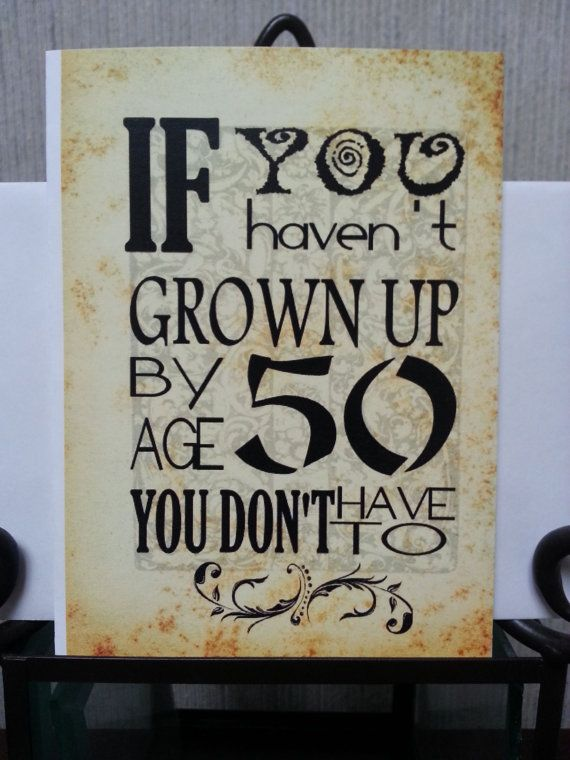 Birthday Card Turning 50 50th Over the Hill by SoulSpeaks