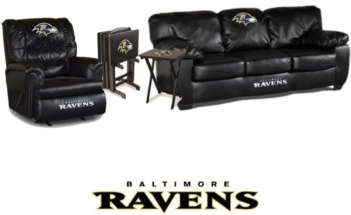 Use This Exclusive Coupon Code: PINFIVE To Receive An Additional 5% Off The  Baltimore Ravens Big Daddy Classic Leather Furniture Set At Sportsfanspu2026