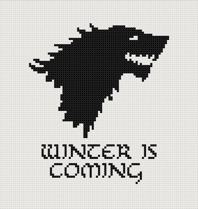 Game of Thrones Stark House sigil counted cross stitch printable PDF ...
