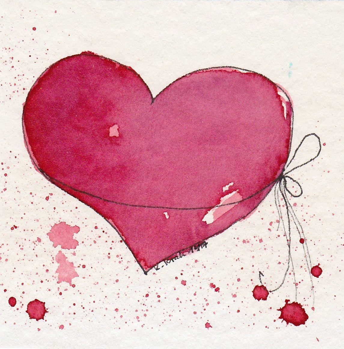 Pin Von Cathy Lane Auf Art Class Ideas Aquarell Herz