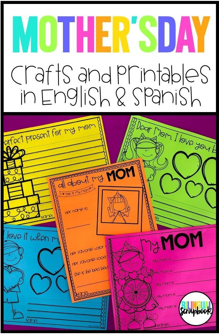 Recipe For A Great Mom Mothers Day Craft In English And -9069
