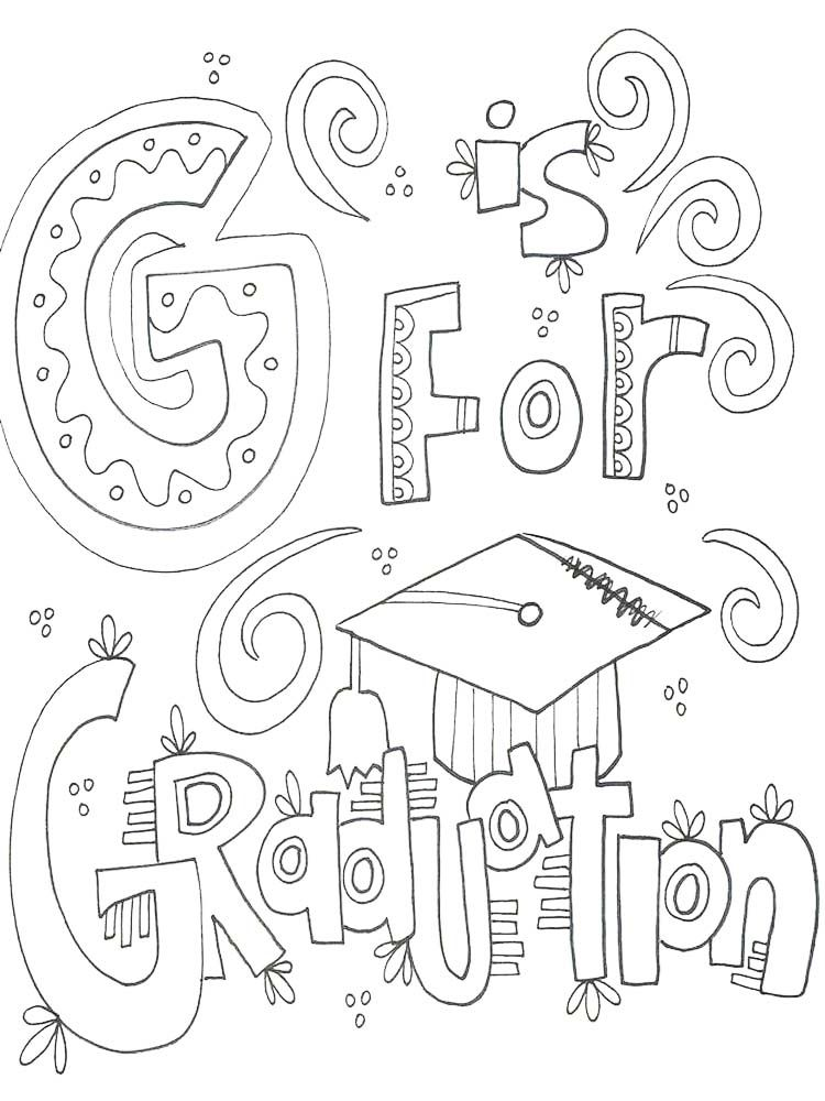 Congratulations Graduation Coloring Pages in 2020