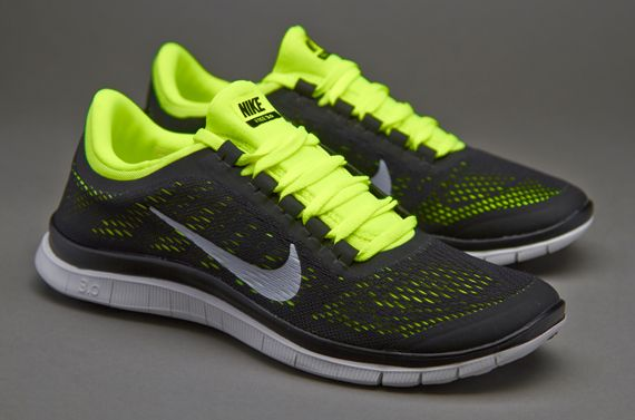 Nike Free 3.0 V5 - Mens Running Shoes - Black-Summit White-Volt Nike Free  3.0 V5 - BlackWhiteVolt The Nike Free 3.0 Mens Running Shoe is designed  for ...