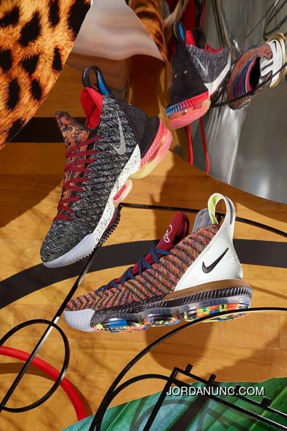 """separation shoes af98b 0ecf1 Real Fibers LeBron Signature Nike LeBron 16 """"What The"""" Boots Indoor Battle  Mid Top Basketball Shoes ..."""
