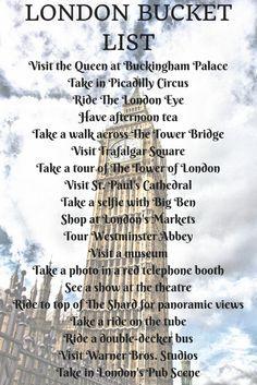 London Bucket List - 20 ideas for first-timers visiting London #london #bucketlist #travel