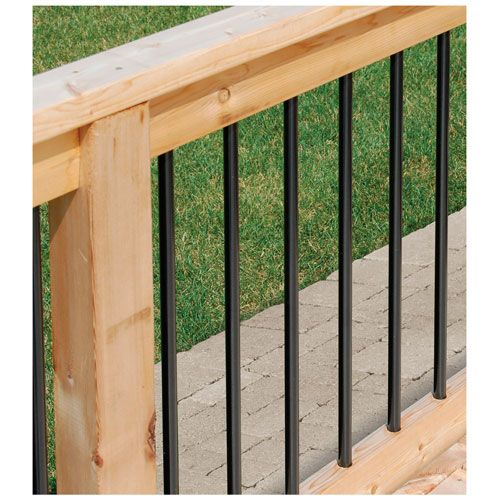 barreaux de rampe 29 1 2 po noir paquet de 10 rampes aluminium et accessoires canac. Black Bedroom Furniture Sets. Home Design Ideas