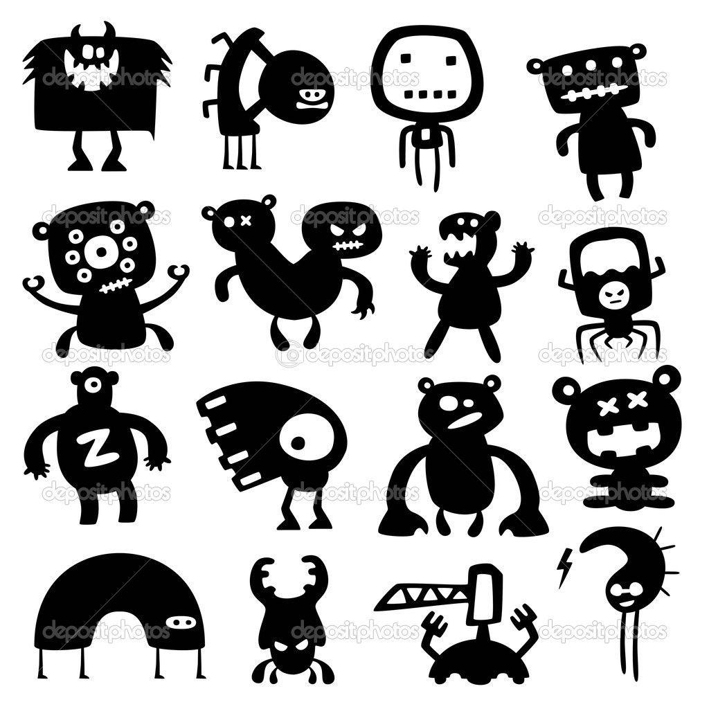 Смешные монстры — Векторное изображение © artenot #5331095
