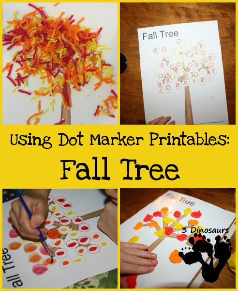 Using Dot Marker Printables: Fall Tree #falltrees