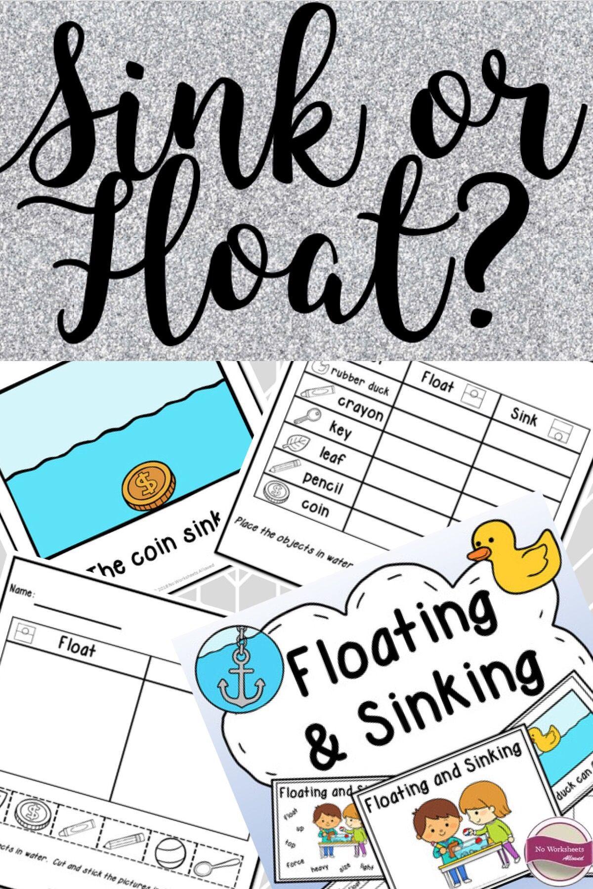 Sink Or Float Experiments Activities Emergent Reader