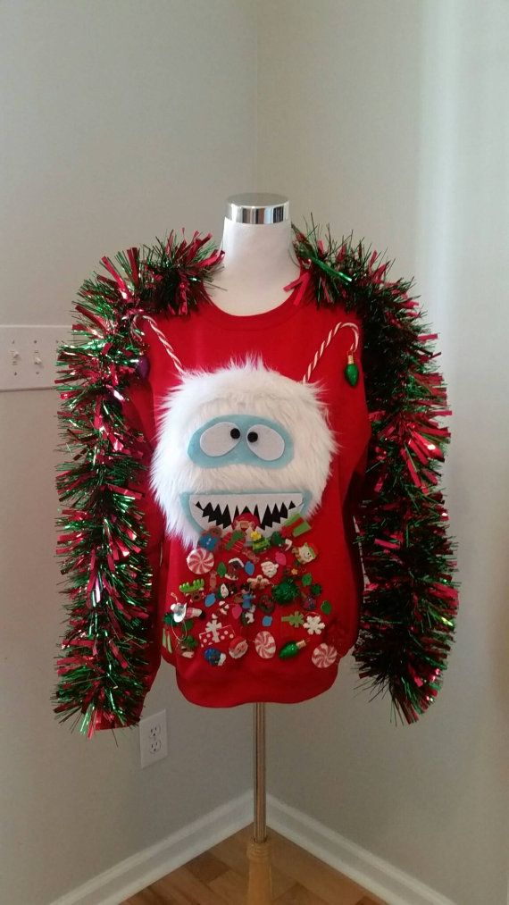 Ugly Christmas Sweater, Abominable Snowman, Bumble, Throwing Up
