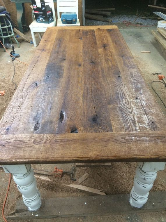8 Foot Antique Oak Farmhouse Table