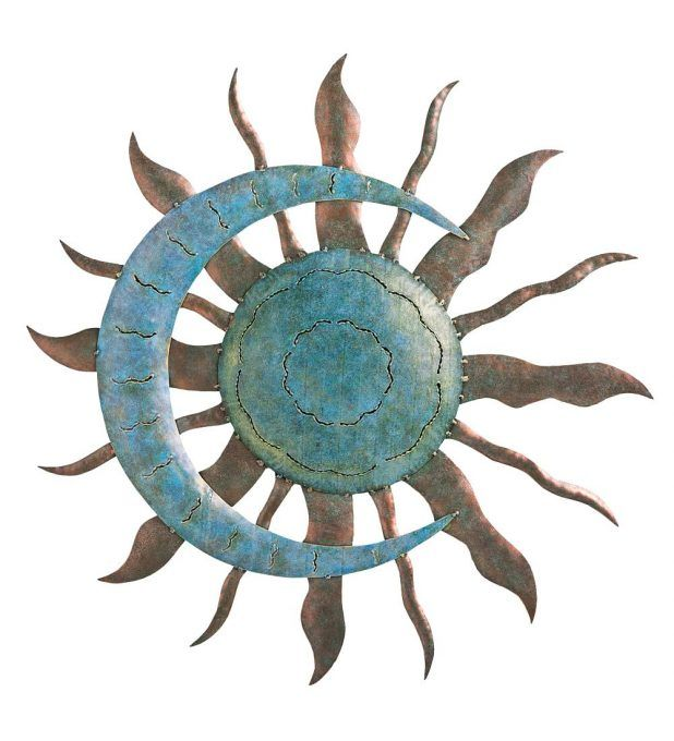 Extra Large Metal Sun Wall Art Sun Face Metal Outdoor Wall Art Outdoor Metal  Wall Art Sun And Moon