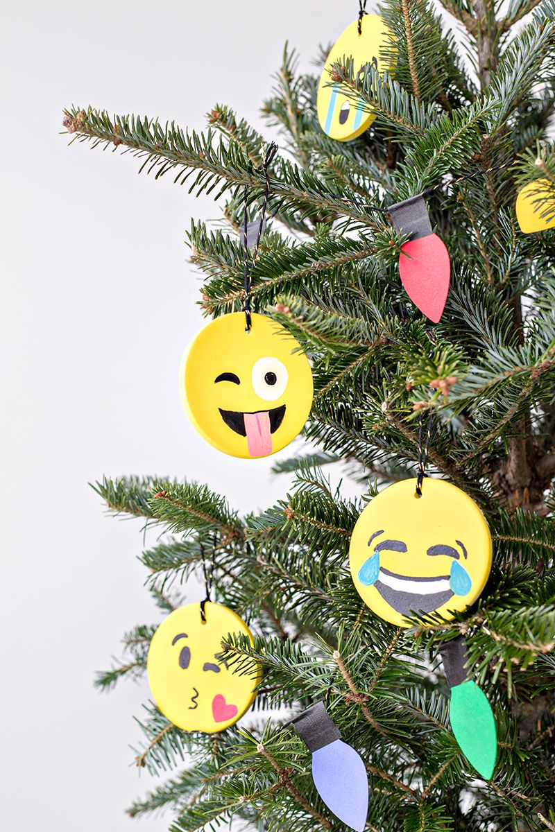 Diy Emoji Ornaments Studio Diy Holiday Crafts Christmas Diy Diy Christmas Ornaments