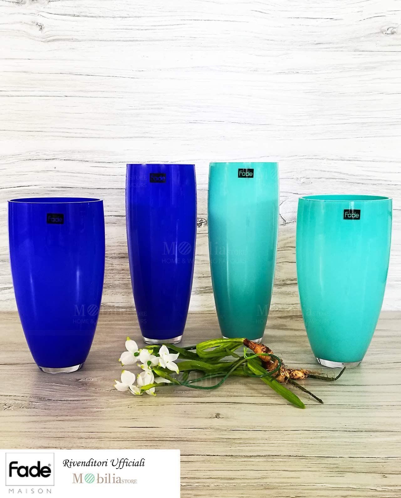 Meravigliosi vasi vetro colorato fade maison esclusivi for Vasi complementi d arredo