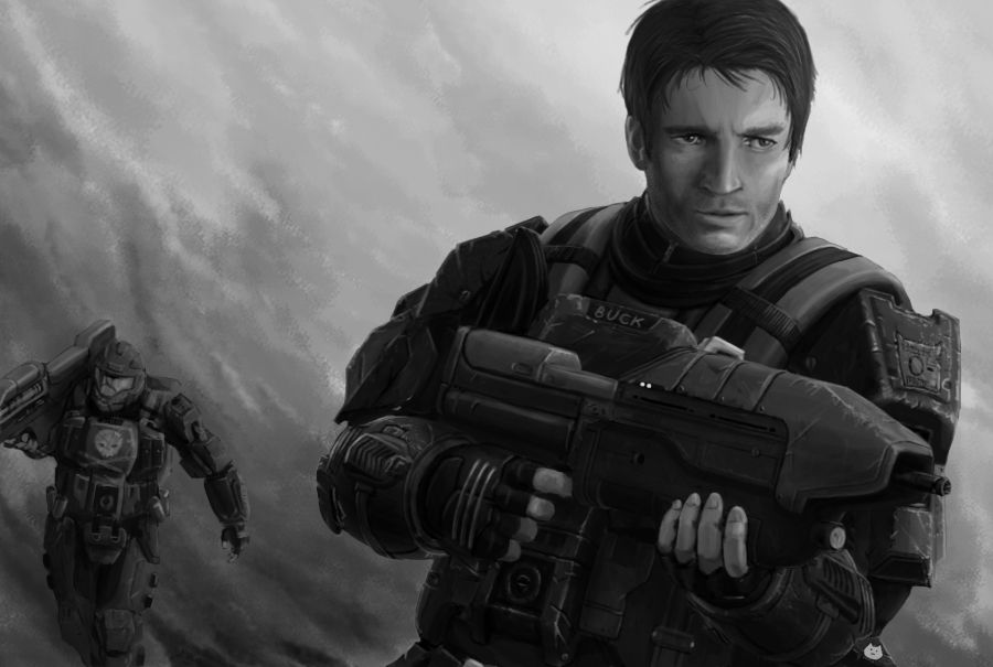 Nathan Fillion is the voice actor and the model for Buck in
