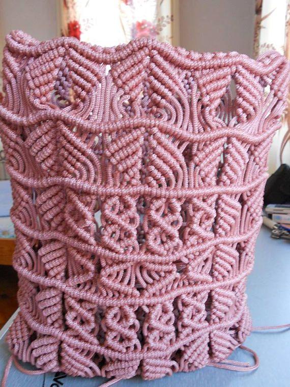 Macrame Purse, Vintage Crochet Handbag, Hippie Purse, Bohemian Purse ...