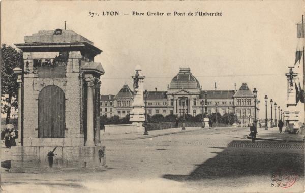 Photographes En Rhone Alpes Lyon Place Grolier Et Pont De L Universite Lyon Pont Universite