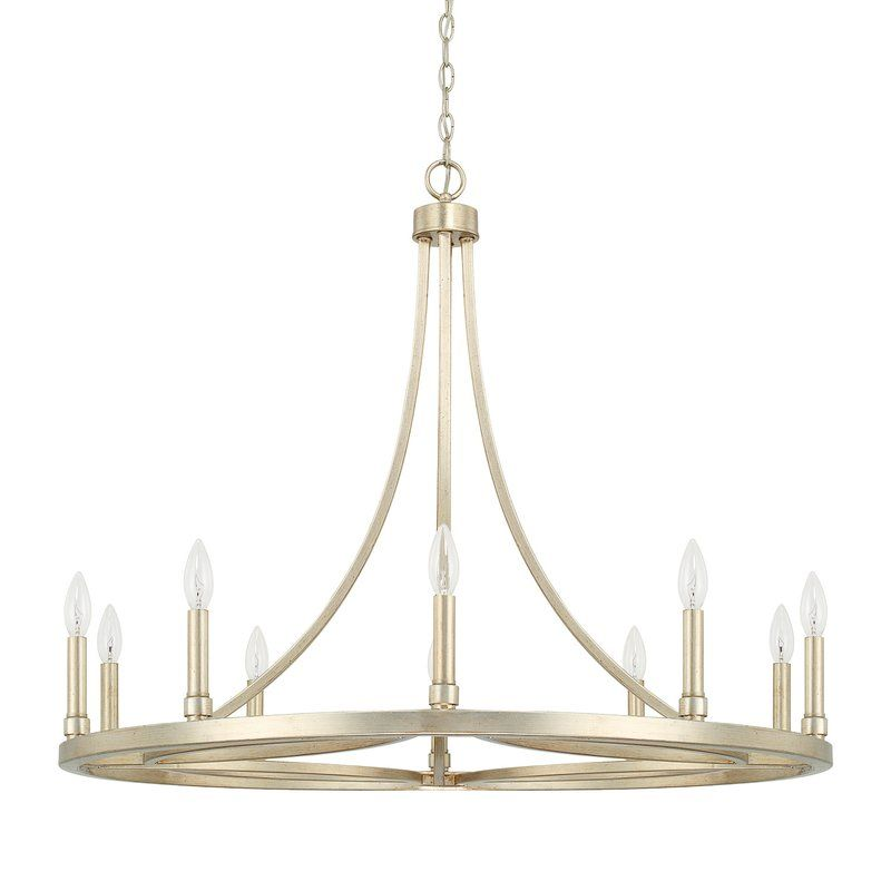 Difranco 10 Light Candle Style Chandelier