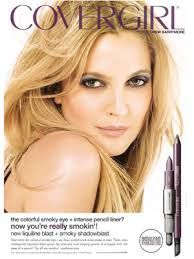 drew barrymore for covergirl  covergirl makeup for green