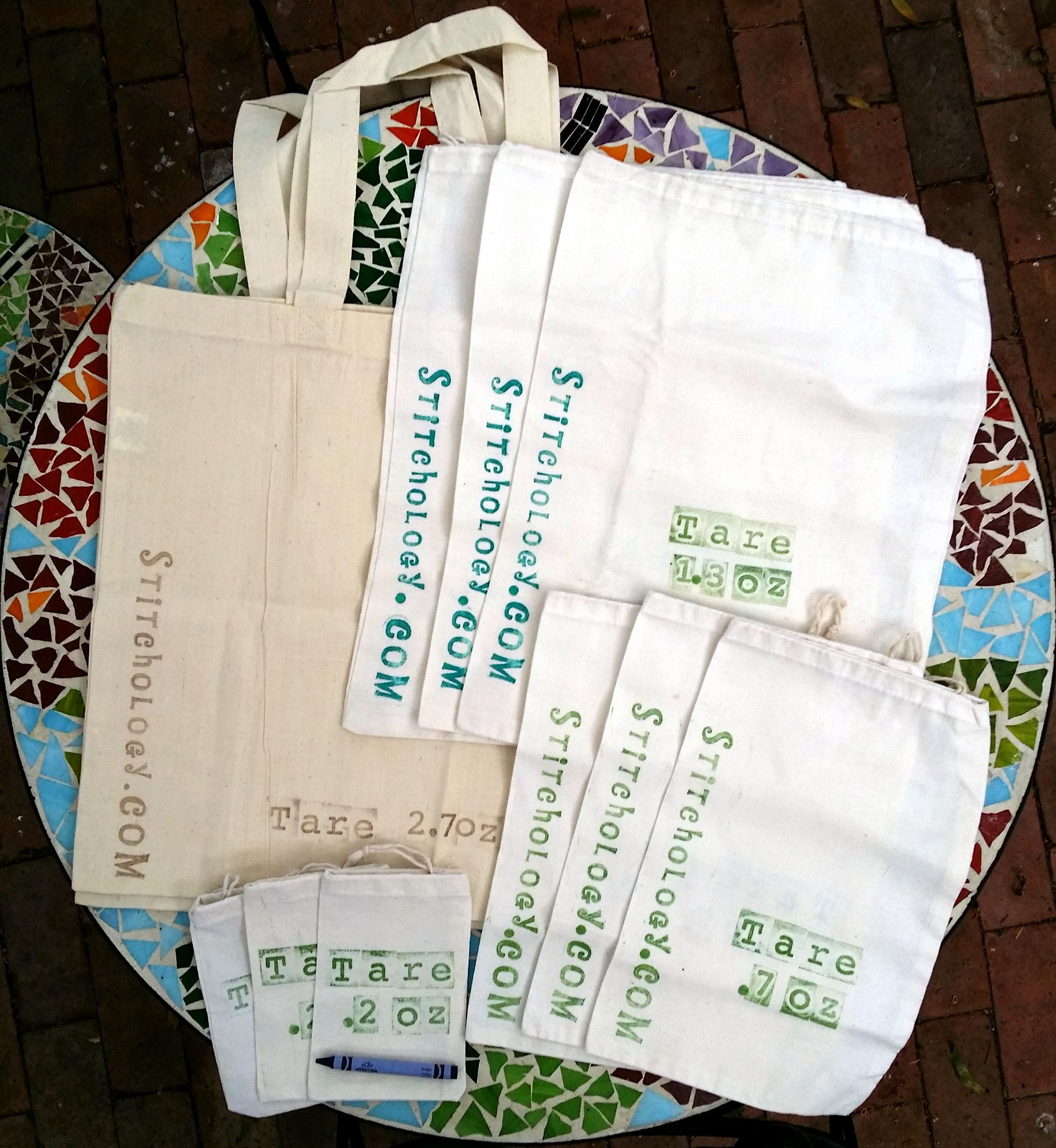 Love the idea to stamp the tare weight on produce bags! Makes it very easy for the checker.