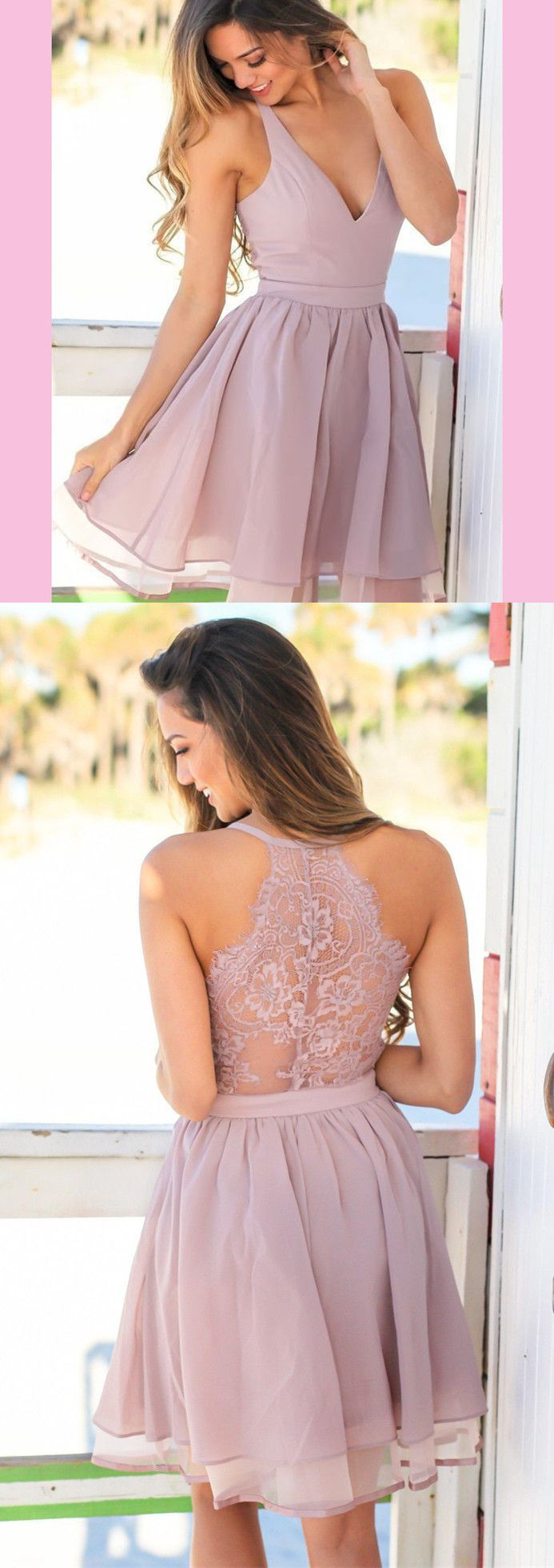 Classic aline pink short homecoming dress with pockets ball gown