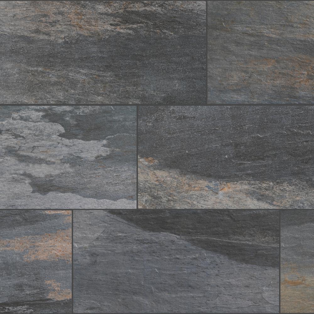 Tile Longitude Slate Grey 12 In X 24