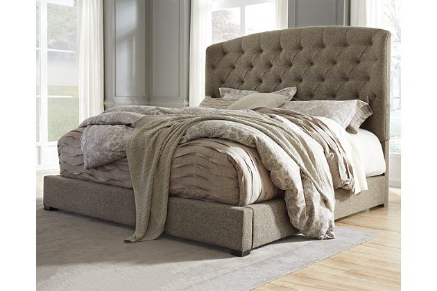 Gerlane Queen Upholstered Bed by Ashley HomeStore, Gray Decorating