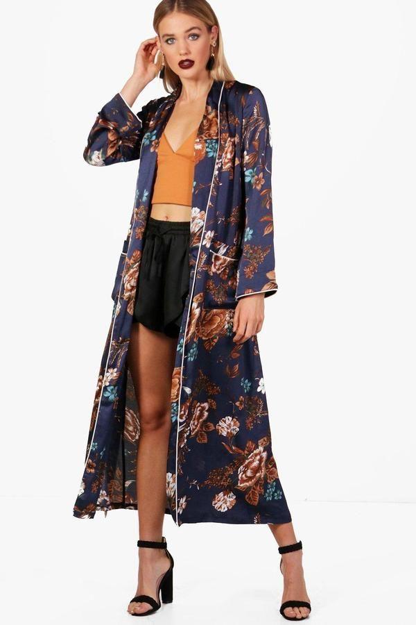 3a33866b5d Floral Print Premium Kimono | Products | Kimono, Floral prints, Floral