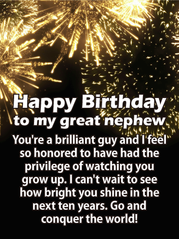 conquer the world happy birthday card for nephew boom crash that s the