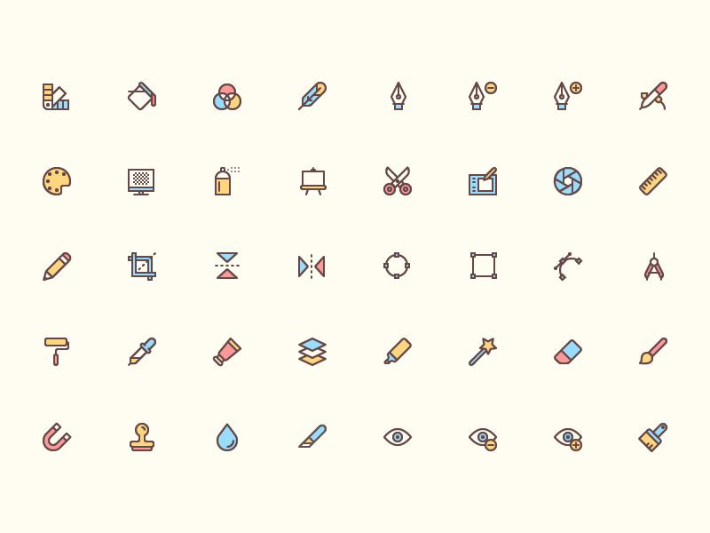 Design Icon Set Created By Trinh Ho Youre Free To Use These Icons