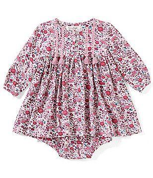 Jessica Simpson Baby Girls Newborn 9 Months Printed A Line Dress