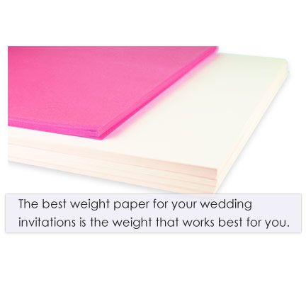 How To Choose The Best Paper Weight For Wedding Invitations Wedding Invitation Paper Invitation Paper Wedding Invitations