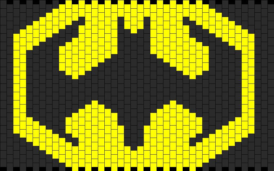 Large Batman Panel Logo Bead Pattern Kandi Ideas Plur By Paola