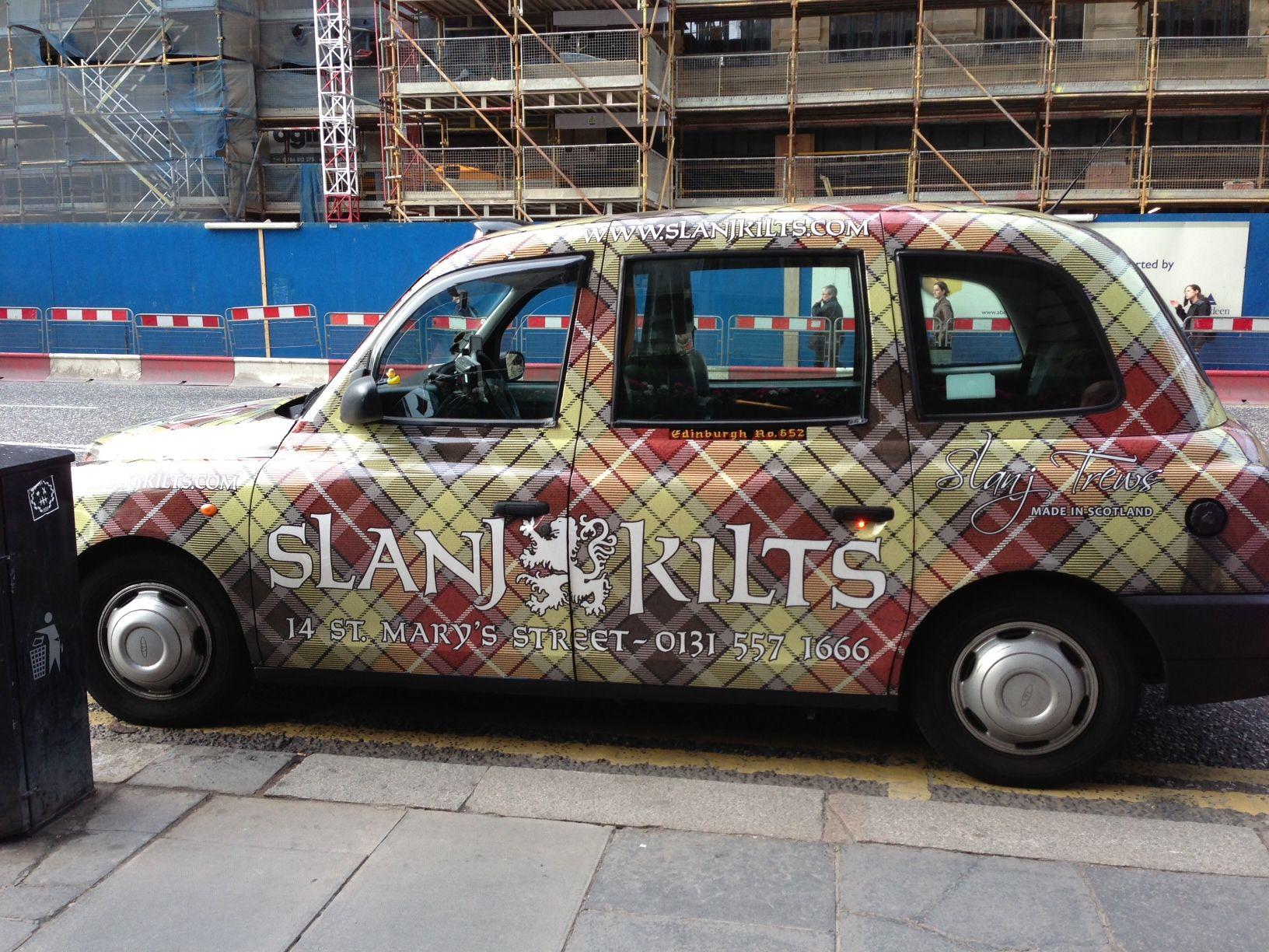 Fabulous Tartan Cab Princes Street Edinburgh Scotland History Scotland Travel Scotland