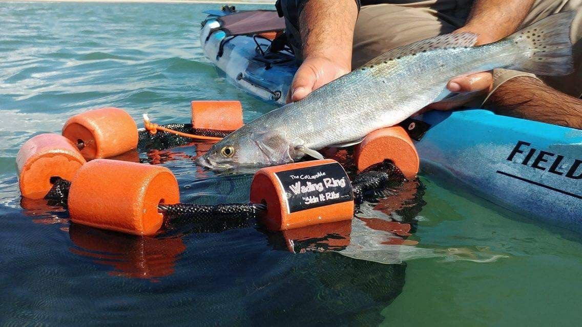 The Collapsible Wading Ring Is The Perfect Way To Keep Fish Alive Without A Bucket And Aerator When Done It Collapses Wade Fishing Fishing Basket Fishing Gear